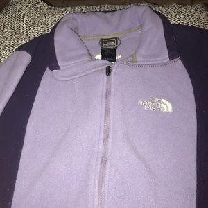 Purple fleece fuzzy sweater.